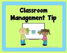 Classroom management tips and FREE printable.