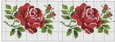 Rose cross stitch (This Pin was discovered by Peo) Kawaii Cross Stitch, Cross Stitch Bird, Cross Stitch Borders, Cross Stitch Flowers, Cross Stitch Charts, Cross Stitch Designs, Cross Stitching, Cross Stitch Embroidery, Hand Embroidery