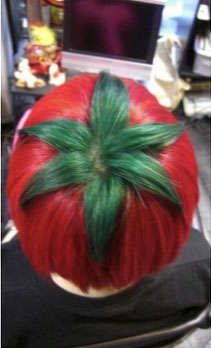 Veggie-Inspired Hairdos - A Japanese Hair Salon Came up with This Chic Ripe Tomato Look (GALLERY)