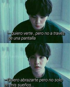 I want to see you,but not through a screen.I want to hug you,but not just in my dreams. Bts Suga, Foto Jungkook, Foto Bts, Bts Taehyung, Frases Bts, Bts Quotes, Bts Chibi, I Love Bts, Bts Lockscreen