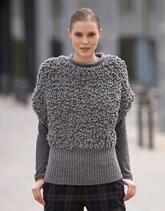 Tijdschrift Dames Urban 84 Herfst / Winter | 29: Dames Trui | Grijs / Medium grijs