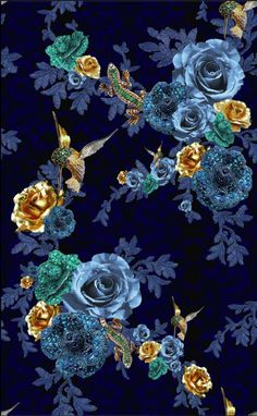 Inside The Studio - Matthew Williamson with Matthew… Tambour Embroidery, Couture Embroidery, Embroidery Fashion, Silk Ribbon Embroidery, Hand Embroidery, Embroidery Designs, Flower Phone Wallpaper, Wallpaper Iphone Cute, Wallpaper Backgrounds
