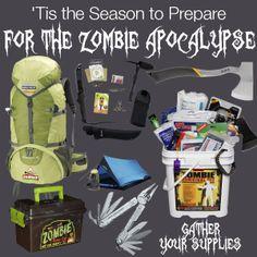 'Tis the Season to Prepare for the Zombie Apocalypse | Gather Your Supplies #zombies