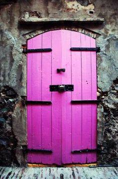 Looks like a pink door on a Castle