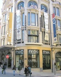 FNAC in Porto, Portugal. Someday, maybe, my Scott will take me here, the place of his family :) Porto City, European Countries, Travel Bugs, European Travel, Gaia, Rue, Portuguese, Places To Visit, Street View