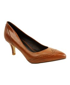Loooove these!!!--Take a look at this Camel Scallop Misty Pump on zulily today!