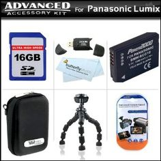 Click Here http://gadget-core.com/bestseller.php?p=B004BF9326 For Best Price and Cheap 16GB Advanced Accessory Kit For Panasonic Lumix DMC-ZS7 Digital Camera Includes Gripster Flexible Tripod + 16GB High Speed SD Memory Card + USB 2.0 Card Reader + Extended Replacement Panasonic DMW-BCG10 (1200 mAH) Lithium-Ion Battery + Hard Case + Mor (Electronics) Best Seller and Best Buy click image to review :D