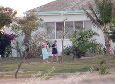 Princess Diana and Victoria Mendham at K Club Barbuda Dec, 1995