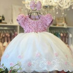 Baby Girl Party Dresses, Flower Girl Dresses, Baby Hair Accessories, Baby Dress Patterns, Kids Frocks, Kids Outfits, Kids Fashion, Gowns, Bambi