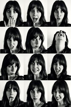 brunette girl facial expressions