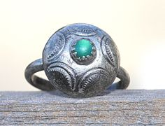 Navajo Turquoise Dome Button Ring