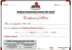 Iact global sample certification for various short term courses vskills sample certificate yelopaper Images