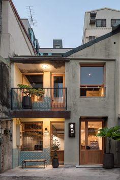 Cafe Shop Design, Cafe Interior Design, Architecture Design, Computer Architecture, Japanese Architecture, Small House Design, Small Cafe Design, Minimalist House Design, Facade House