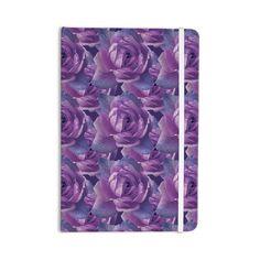 "Shirlei Patricia Muniz ""Roses"" Lavender Floral Everything Notebook"