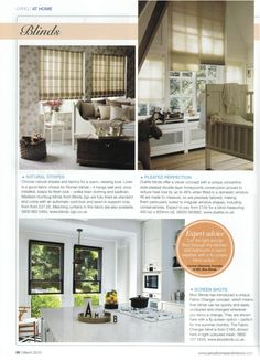 Our founder Cormac Diamond talks about Fly Screen options from Blocblinds in Period Homes and Interiors magazine #kitchenstyle #kitchenwindows #blinds