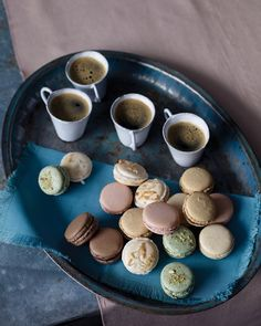 FRENCH MACARONS - The basic batter and the fillings for these delectable little desserts can be varied endlessly simply by adding different flavorings and colorings; for starters, there's chocolate, coconut, peanut, pistachio, raspberry, and vanilla bean. Martha Stewart recipe!