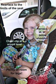 Big kids are safest in a rear facing car seat! Here's how they should look.  www.csftl.org