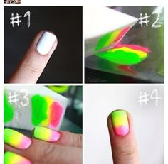 Ombré nail trick