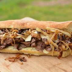 Steak Sandwich - I am going to change it up using Lorraine Swiss. Looks awesome!