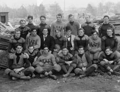 early 1900s photo Geo. Wash. Football (note the nose guard)