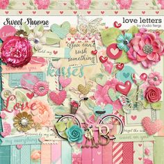 *Free with your $10 Purchase* Love Letters digital scrapbooking kit by Studio Flergs