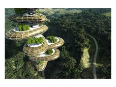 forest-future-city - Would you like to live in these? Tap to see more future utopian city wallpapers! Green Architecture, Futuristic Architecture, Amazing Architecture, Landscape Architecture, Organic Architecture, Islamic Architecture, Eco Construction, Unusual Buildings, Tower Garden