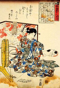 戯画・狂画 歌川国芳のどうぶつ画 Asian Cat, Japanese Cat, Kuniyoshi, Japanese Painting, Woodblock Print, Traditional Art, Cat Art, Illustration Art, Art Prints