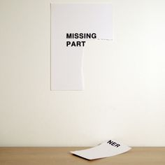 """missing part"" by anatol knotek"