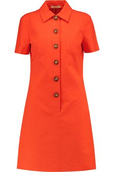 Shop on-sale Stretch cotton-poplin mini dress. Browse other discount designer Mini Dress & more luxury fashion pieces at THE OUTNET Meghan Markle Dress, Michael Kors Collection, Teenager Outfits, Button Dress, Pattern Fashion, Poplin, Dresses For Sale, Bridal Dresses, Clothes For Women