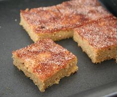 Snickerdoodle Blondies - sweet cinnamon almond flour blondies, low carb, Trim Healthy Mama S, keto