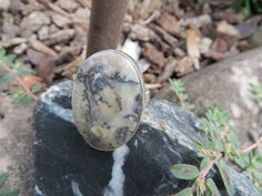 Bohemian dendrite ring, size 10, #382 by Sandy River Jewelry