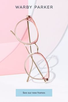 12 breezy frames to take you from shore to shade. Cute Glasses, New Glasses, Eyeglasses Frames For Women, Silver Shop, Fashion Eye Glasses, Warby Parker, Rose Quartz Crystal, Just In Case, Eyewear