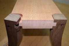 Custom wooden foot stool - Design build process