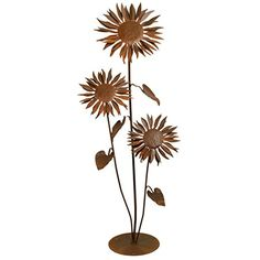 Patina Products S665  Large Sun Flower Garden Sculpture >>> You can get additional details at the image link.
