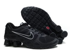 Nike Shox Turbo 12 Pánskés Running Obuv Mesh All Černý Bílý af61ba692