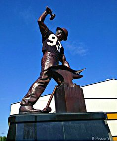 """The Boilermaker"" Statue at Purdue University - West Lafayette, IN"