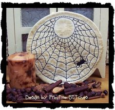 Primitive Stitchery EPatternSpider Web Candle by PrimitiveStitches, $2.50