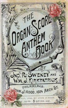 Aufkleber Theaterplakat Organ Rosen vintage 5,50 €