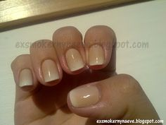 Моите мании. My obsessions: Pinterest идея - Френски с преливка. Pinterest idea - gradient french manicure.