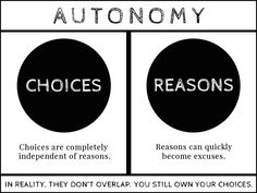 Choices, reasons, and the hard black line.