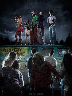L'artiste américain Jeff Zoet a imaginé un épisode de Scoobidou dans lequel la célèbre petite bande d'adolescents aurait été confrioté à une invasion de zombies.