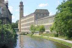 Leeds & Liverpool Canal - Sir Titus Salt's Mills at Saltaire - West Yorkshire - England
