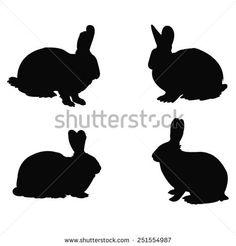 vector file of rabbit