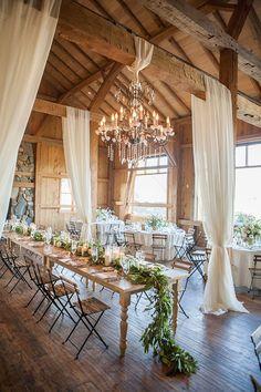 Chic rustic theme wedding reception ideas