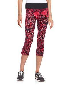 New Balance Space-Dye Camo Active Leggings Women's Orange Small