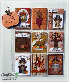 Pocket Letter Fall themed Thanksgiving Cricut The Scrappin Rabbit