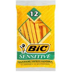 New One Pack of 12 BIC Sensitive Shaver Disposable Razors Shoothing Comfortable  #BIC