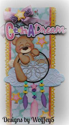 Tear Bear Border Paper Piecing Premade Scrapbook Page Album Scrapbook Borders, Scrapbook Layout Sketches, Scrapbook Embellishments, Baby Scrapbook, Scrapbook Cards, Diy Paper, Paper Crafts, Borders For Paper, Paper Piecing