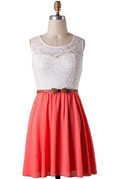 Sugar and Spice Lace Bodice Dress
