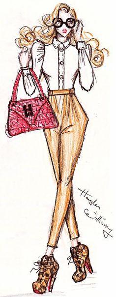 fashion ilustration # hair #shoes #make up